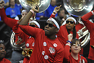 The Ole Miss band vs. La Salle in the Round of 32 of the NCAA Tournament at the Sprint Center in Kansas City, Mo. on Sunday, March 24, 2013. La Salle won 76-74.