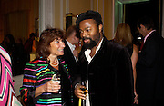Lisa Appignanesi and Ben Okri, Vanity Fair and Dom Perignon celebrated a collection of essays on Seduction in aid of English PEN. Dom Perignon Ballroom. 8 September 2004. SUPPLIED FOR ONE-TIME USE ONLY-DO NOT ARCHIVE. © Copyright Photograph by Dafydd Jones 66 Stockwell Park Rd. London SW9 0DA Tel 020 7733 0108 www.dafjones.com