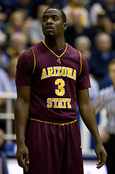 February 27, 2010; Berkeley, CA, USA; Arizona State Sun Devils guard Ty Abbott (3) during the first half against the California Golden Bears at Haas Pavilion. California defeated Arizona State 62-46.
