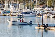 Fishermen Boating Through the Harbor in Dana Point