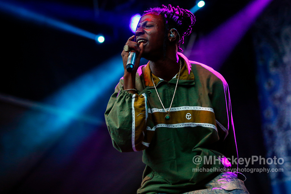 CHICAGO, IL - AUGUST 06: Joey Bada$$ performs at Grant Park on August 6, 2017 in Chicago, Illinois. (Photo by Michael Hickey/Getty Images) *** Local Caption *** Joey Bada$$