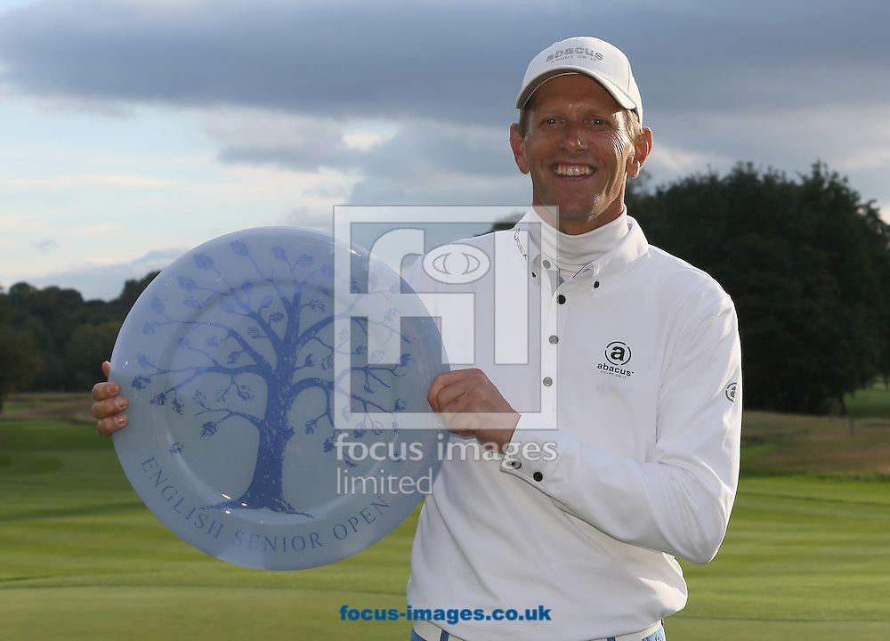Picture by Paul Gaythorpe/Focus Images Ltd +447771 871632<br /> 06/10/2013<br /> Steen Tinning winner of the English Senior Open at Rockliffe Hall, Darlington.