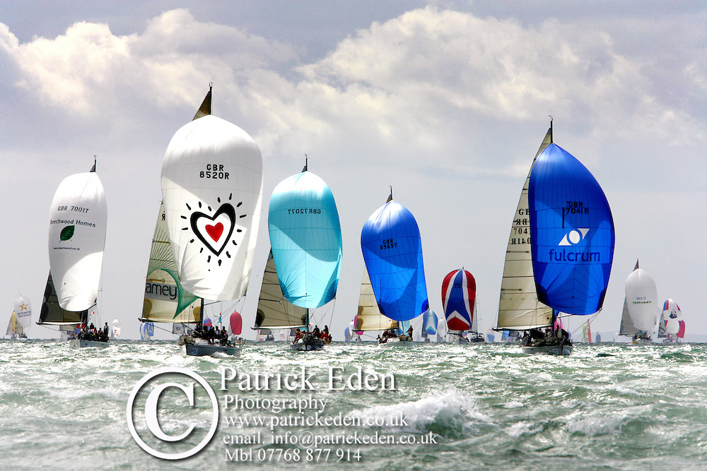 Spinaker Run. The Solent Photographs of the Isle of Wight by photographer Patrick Eden photography photograph canvas canvases