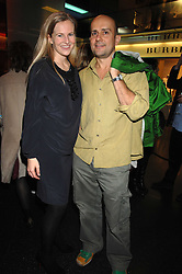 ALANNAH WESTON and MARK QUINN at a party to celebrate the launch of Holly Peterson's debut novel 'The manny' held at Selfridges, Oxford Street, London on 26th February 2007.<br />