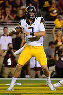 TEMPE, AZ - SEPTEMBER 24:  Quarterback Davis Webb #7 of the California Golden Bears looks to make a pass in the game against the Arizona State Sun Devils at Sun Devil Stadium on September 24, 2016 in Tempe, Arizona. The Sun Devils won 51-41.  (Photo by Jennifer Stewart/Getty Images)