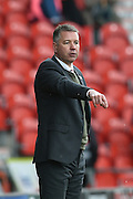 Darren Ferguson during the Sky Bet League 1 match between Doncaster Rovers and Wigan Athletic at the Keepmoat Stadium, Doncaster, England on 16 April 2016. Photo by Ian Lyall.