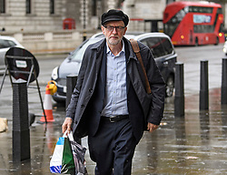 © Licensed to London News Pictures. 21/10/2019. London, UK. Labour Party Leader JEREMY CORBYN is seen arriving at Parliament in Westminster, London. Last week Parliament sat on a Saturday for the first time since 1982, but failed to vote on Boris Johnson's new Brexit deal. Photo credit: Ben Cawthra/LNP