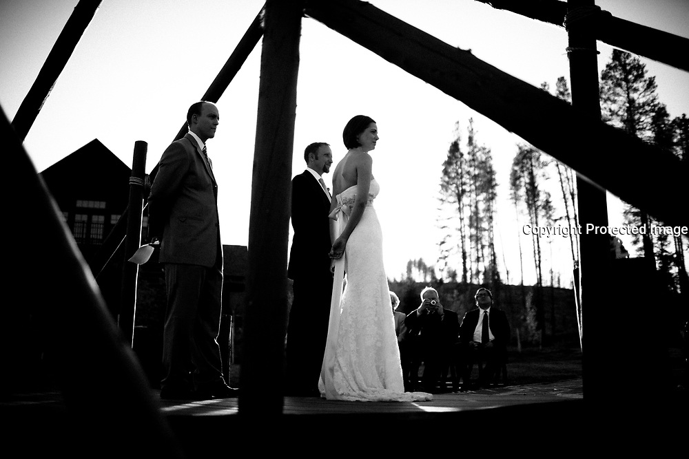 SHOT 9/30/10 6:57:56 PM - Marc Piscotty and Margaret Ebeling wedding week at Devil's Thumb Ranch in Tabernash, Co..(Photo by Trevor Brown / © 2010)