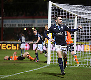 Paul Heffernan celebrates after scoring Dundee's third goal  - Dundee v Dundee United - SPFL Premiership at Dens Park<br /> <br />  - &copy; David Young - www.davidyoungphoto.co.uk - email: davidyoungphoto@gmail.com