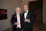 SIR ROY STRONG; SANDY NAIRNE, Mark Weiss dinner, Nationaal Portrait Gallery. London. 15 October 2012.