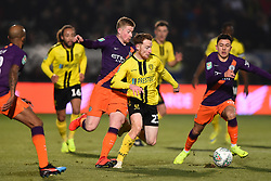 January 23, 2019 - Burton-Upon-Trent, Staffordshire, United Kingdom - Burton Albion forward Liam Boyce (27) battles with Manchester City midfielder Kevin de Bruyne (17) during the Carabao Cup match between Burton Albion and Manchester City at the Pirelli Stadium, Burton upon Trent on Wednesday 23rd January 2019. (Credit: MI News & Sport) (Credit Image: © Mark Fletcher/NurPhoto via ZUMA Press)