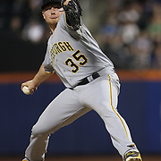 Pitcher Mark Melancon, Pittsburgh Pirates, in action during the New York Mets Vs Pittsburgh Pirates MLB regular season baseball game at Citi Field, Queens, New York. USA. 15th August 2015. Photo Tim Clayton