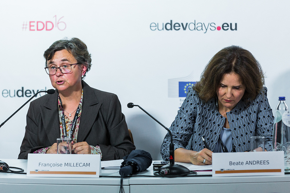 20160615 - Brussels , Belgium - 2016 June 15th - European Development Days - Combating Forced Labour and Child Labour Through Supply Chain Interventions - Francoise Millecam , Deputy Head of Unit , Human Development and Migration , European Commission - DG for International Cooperation and Development © European Union