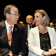 20160615 - Brussels , Belgium - 2016 June 15th - European Development Days - Opening Ceremony - Federica Mogherini - High Representative of the European Union for Foreign Affairs and Security Policy and Vice-President of the European Commission - Ban Ki-Moon - Secretary General, United Nations © European Union
