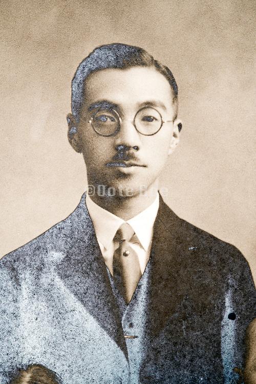 portrait western dressed man Japan ca 1930s