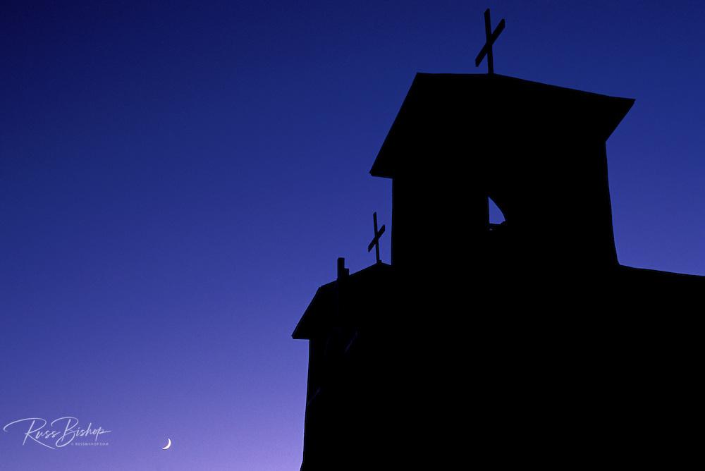 San Francisco de Asis Mission Church at dusk, Rancho de Taos, New Mexico