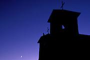 San Francisco de Asis Mission Church at dusk, Rancho de Taos, New Mexico USA