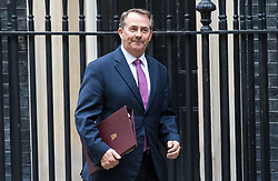 London, June 27th 2017. International Trade Secretary Liam Fox attends the weekly UK cabinet meeting at 10 Downing Street in London.