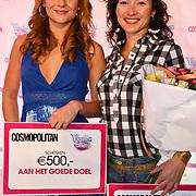 """NLD/Amsterdam/20080529 - Verkiezing Killerlegs on the catwalk """" Mooiste benen van Nederland 2008 """" , winnares 2de plaats Miljuschka Witzenhausen en winnares Birget Schuurman"""