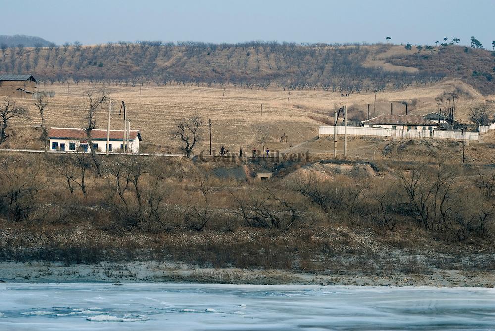 North korean village near the border with China.