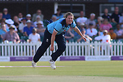 Anya Shrubsole of England (41) bowling during the Royal London Women's One Day International match between England Women Cricket and Australia at the Fischer County Ground, Grace Road, Leicester, United Kingdom on 4 July 2019.