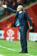 Warsaw, Poland - 2017 September 04: Trainer coach Adam Nawalka of Poland gestures during soccer match Poland v Kazakhstan - FIFA 2018 World Cup Qualifier at PGE National Stadium on September 04, 2017 in Warsaw, Poland.<br /> <br /> Adam Nurkiewicz declares that he has no rights to the image of people at the photographs of his authorship.<br /> <br /> Picture also available in RAW (NEF) or TIFF format on special request.<br /> <br /> Any editorial, commercial or promotional use requires written permission from the author of image.<br /> <br /> Mandatory credit:<br /> Photo by &copy; Adam Nurkiewicz / Mediasport