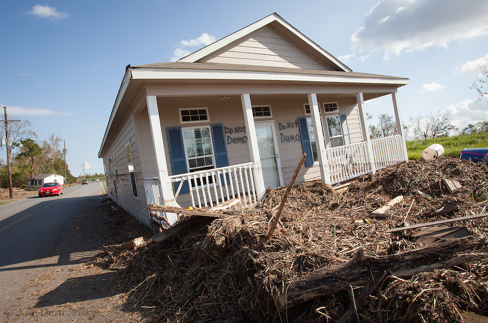Home on the eastbank of Plaquemines Parish, LA,  moved off its' foundation when superstorm Isaac hit.