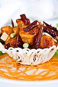 Kung pao chicken at Mandarin Court, Cantonese restuarant