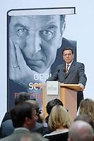 """26 OCT 2006, BERLIN/GERMANY:<br /> Gerhard Schroeder, SPD, Bundeskanzler a.D., waehrend einer Pressekonferenz zur Vorstellung seines Buches """"Entscheidungen. Mein Leben in der Politik"""", Willy-Brandt-Haus<br /> IMAGE: 20061026-01-053<br /> KEYWORDS: Gerhard Schröder, Autobiografie, Biografie, Buch"""