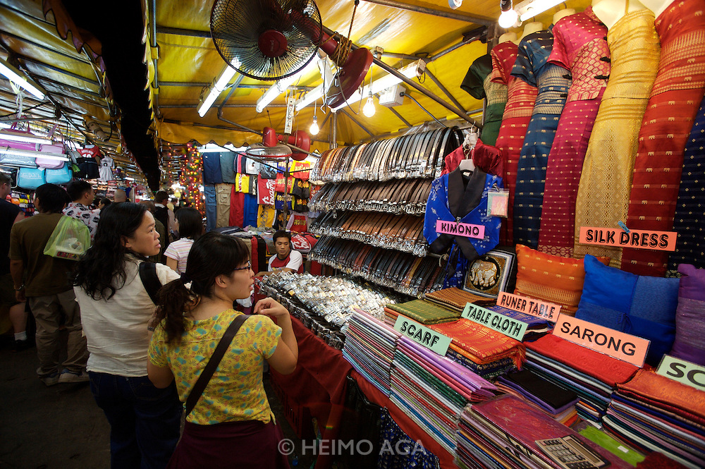 Every night starting at 5 P.M., Patpong night club street is transformed into a buzzing night market.