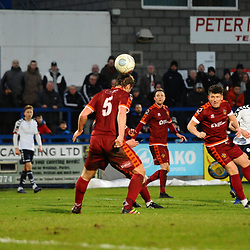 TELFORD COPYRIGHT MIKE SHERIDAN 5/1/2019 - GOAL. Darryl Knights of AFC Telford scores to make it 2-1 during the Vanarama Conference North fixture between AFC Telford United and Spennymoor Town.