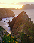0603-2020B ~ Copyright:  George H. H. Huey ~ Anacapa Island.  Sunset from Inspiration Point.  Channel Islands National Park, California.