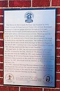 Interpretive plaque at the Durango & Silverton Narrow Gauge Railroad depot, Durango, Colorado