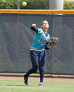 Erika Arcuri demonstrating the arm prior to game time against Western Kentucky.