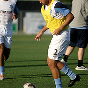 Wilmington Hammerheads FC's Tom Parratt warms up before their friendly match against Toronto FC Wednesday June 18, 2014 at Legion Stadium in Wilmington, N.C. (Jason A. Frizzelle)