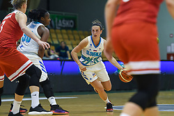 Teja Oblak dribbles during friendly basketball match between Women teams of Slovenia and Czech Republic before EuroBasket Serbia 2019, on May 31st, 2019 in Arena Tri Lilije, Lasko, Slovenia. Photo by Milos Vujinovic / Sportida