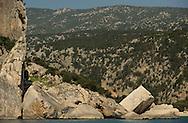 Mediterranean coast, Gennargentu National Park,<br /> Sardinia, Italy