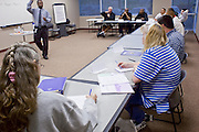 23 February 2009 -- PHOENIX, AZ: RYAN JEFFERSON leads a jobs skills class for job hunters at the Maricopa Workforce Connections office in Phoenix, AZ. Maricopa Workforce Connections helps people find work and transition to new work environments. According to the US Bureau of Labor Statistics, unemployment in Arizona increased from 3.9 percent in April 2008 to 6.9 percent in December 2008.    Photo By Jack Kurtz / ZUMA Press