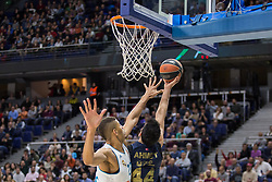 March 2, 2018 - Madrid, Madrid, Spain - Ahmet Düverio?lu (R) and Anthony Randolph (L) during Fenerbahce Dogus Istanbul victory over Real Madrid (83 - 86) in Turkish Airlines Euroleague regular season game (round 24) celebrated at Wizink Center in Madrid (Spain). March 2nd 2018. (Credit Image: © Juan Carlos Garcia Mate/Pacific Press via ZUMA Wire)