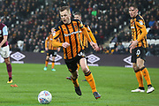 Hull City midfielder Sebastian Larsson (16) attacking during the EFL Sky Bet Championship match between Hull City and Aston Villa at the KCOM Stadium, Kingston upon Hull, England on 31 March 2018. Picture by Mick Atkins.
