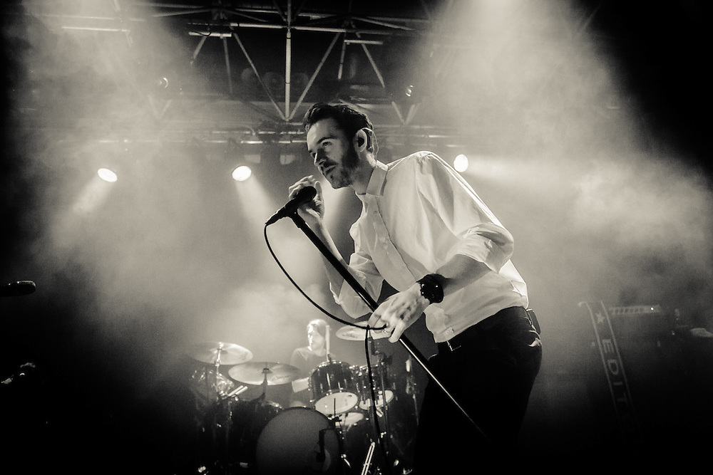"EDITORS - The english rock band from Stafford with front singer Tom Smith live at the exclusive pre-release show at ZAKK in Düsseldorf 2015-09-28 for the furthcoming album ""In Dream""."