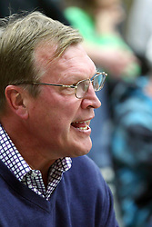 21 February 2015:  Jack Sikma.  At half time of an NCAA D# CCIW men's basketball game between the Illinois Wesleyan Titans in Shirk Center, Bloomington IL the floor was named in honor of retiring Dennie Bridges.  Dennie Bridges has been on the job at IWU for 51 years as a basketball coach, then athletic director.  Dennie is the 2nd winningest D3 coach by wins behind only Dick Saurs.  Dennie took the Titans to the D3 NCAA tournament 14 times in 18 season. He had a league record of 421-129 in 17 seasons.  Jack Sikma was a part of Dennie's 1973 recruiting class.  Sikma later played for the Milwaukee Bucks and Seattle Supersonics in the NBA.  IWU President Richard Wilson presided over the ceremony.