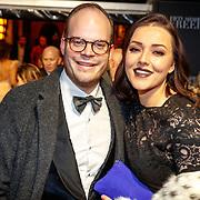 NLD/Amsterdam/20180206 - Fifty Shades Freed premiere, Mascha Feoktistova en partner Gregor van vlierden