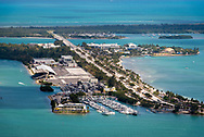 Aerial view of Virginia Key