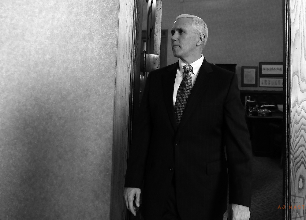 Mike Pence during his inauguration events in Indianapolis, Monday January 14,2013. (Photo by AJ Mast)