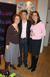 Left to right, BEVERLEY POND-JONES Musician BRYAN ADAMS and SARA DAVENPORT founder of The London Haven at a party attended by HRH The Countess of Wessex to celebrate the 5th birthday of Breast Cancer Haven's - The London Haven, Effie Road, London on 10th February 2005.<br />