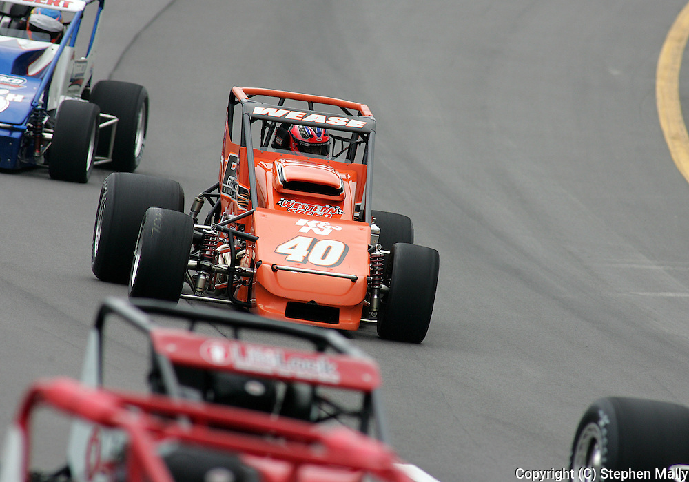05 MAY 2007: Billy Wease (40) of Western Speed Racing drives around turn one during the sprint car race in the Casey's General Stores USAC Triple Crown at the Iowa Speedway in Newton, Iowa on May 5, 2007.