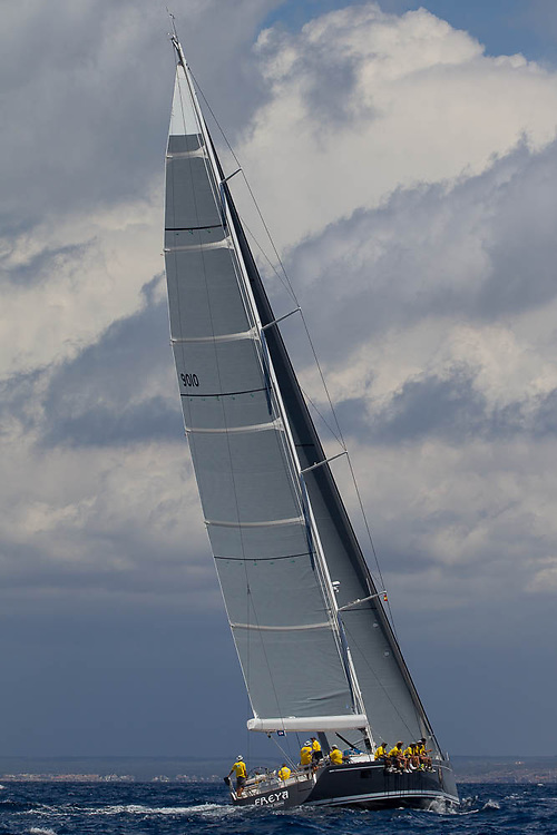 SPAIN, Palma. 22nd June 2013. Superyacht Cup. Freya, 27.7m, designed by German Frers, built by Nautor's Swan.