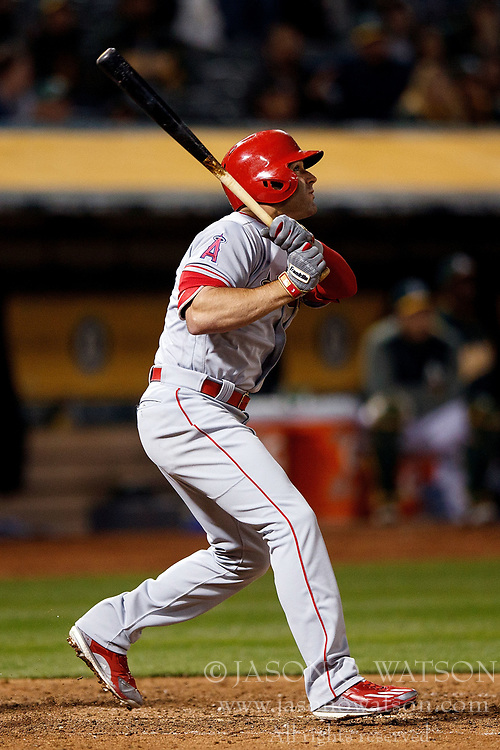 OAKLAND, CA - APRIL 04:  Danny Espinosa #3 of the Los Angeles Angels of Anaheim hits a three run home run off of Ryan Dull (not pictured) of the Oakland Athletics during the ninth inning at the Oakland Coliseum on April 4, 2017 in Oakland, California. The Los Angeles Angels of Anaheim defeated the Oakland Athletics 7-6. (Photo by Jason O. Watson/Getty Images) *** Local Caption *** Danny Espinosa