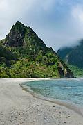 White sand beach at Ofu Island, Manu´a island group, American Samoa, South Pacific